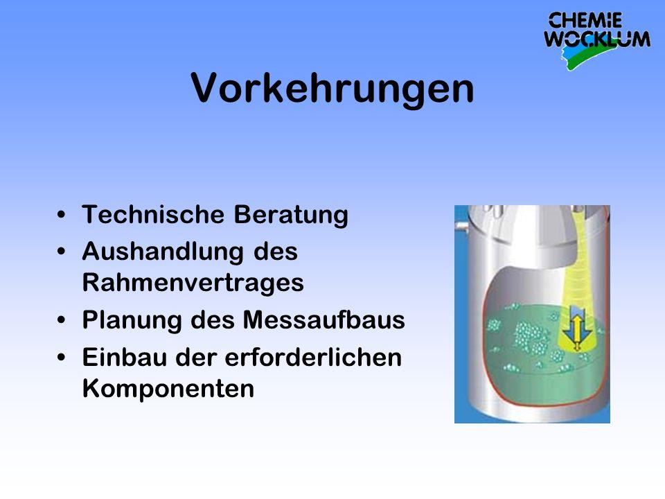 Vorkehrungen Technische Beratung Aushandlung des Rahmenvertrages