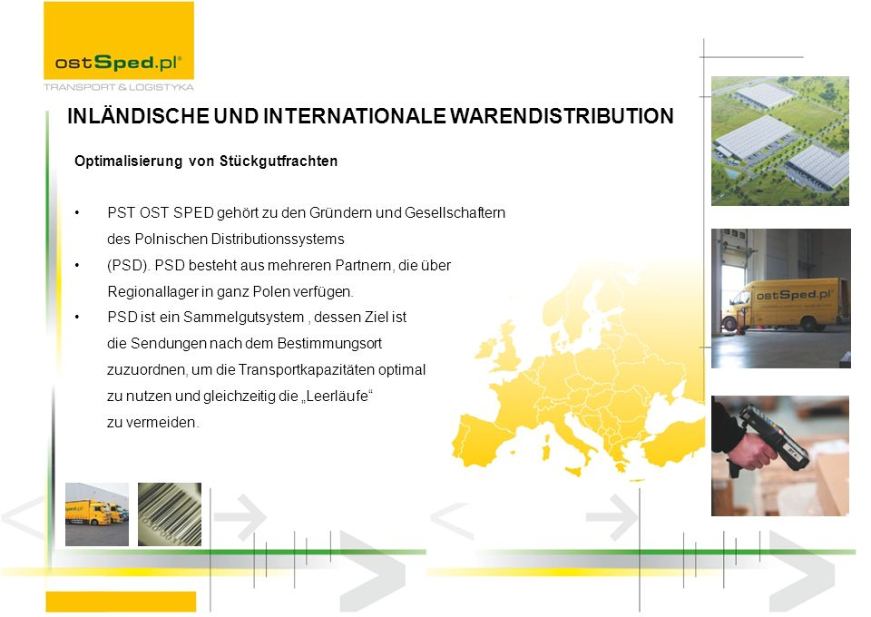 INLÄNDISCHE UND INTERNATIONALE WARENDISTRIBUTION