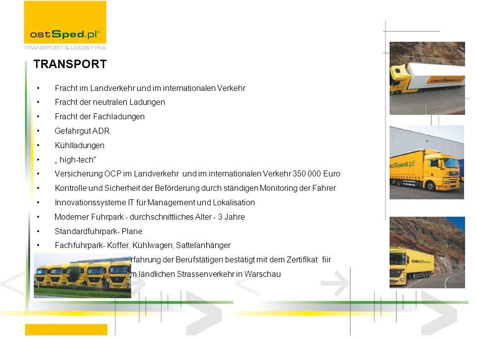 TRANSPORT Fracht im Landverkehr und im internationalen Verkehr