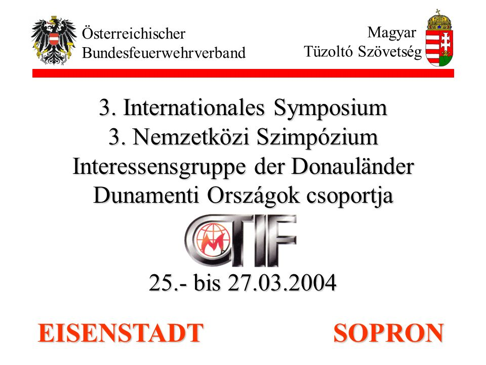 EISENSTADT SOPRON 3. Internationales Symposium