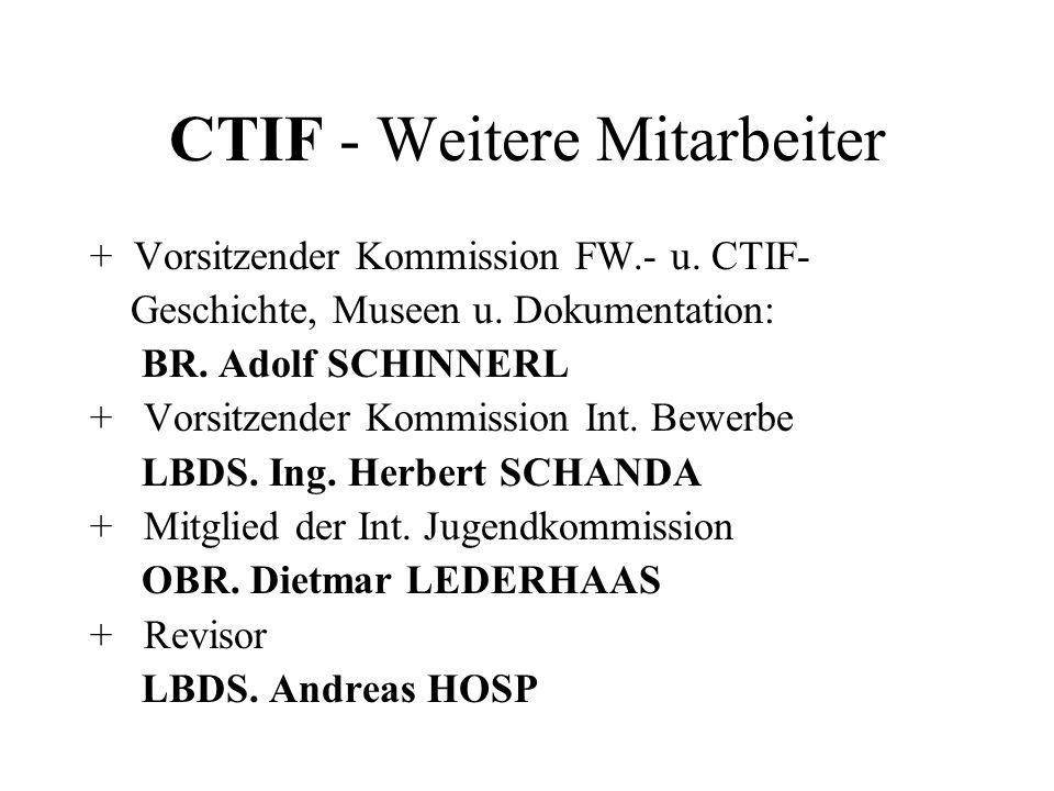 CTIF - Weitere Mitarbeiter