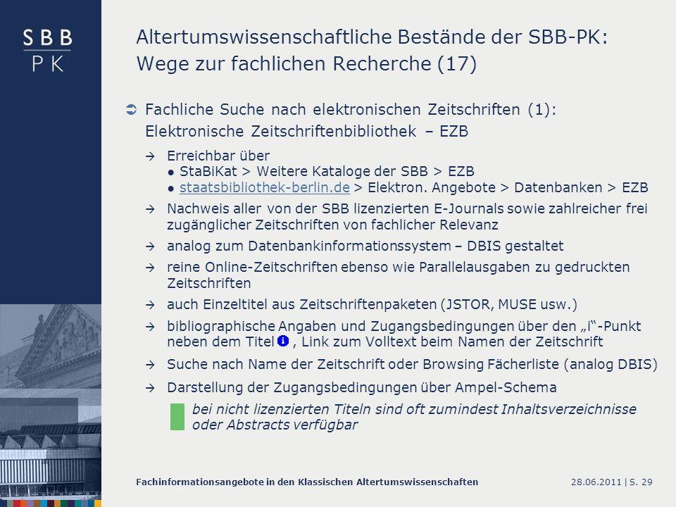 Altertumswissenschaftliche Bestände der SBB-PK: Wege zur fachlichen Recherche (17)