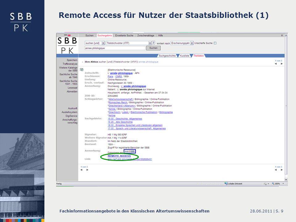 Remote Access für Nutzer der Staatsbibliothek (1)