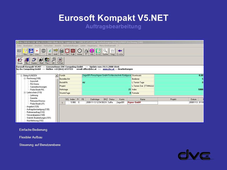 Eurosoft Kompakt V5.NET Auftragsbearbeitung