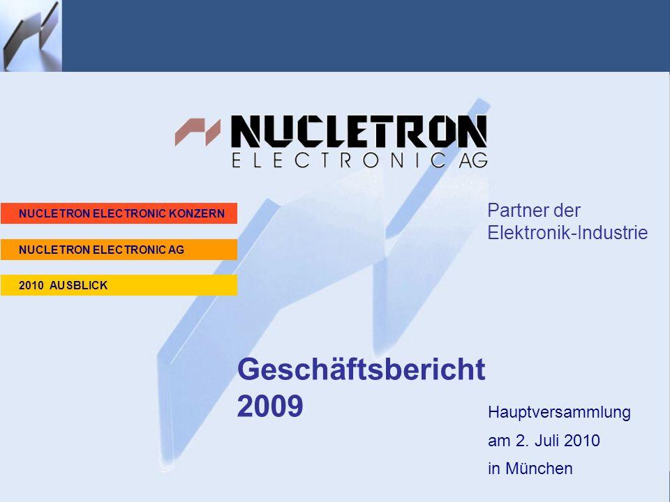 Geschäftsbericht 2009 Homepage Partner der Elektronik-Industrie