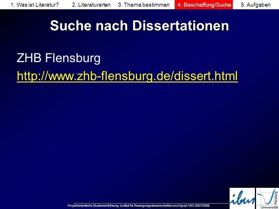 Suche nach Dissertationen
