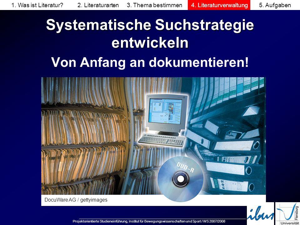 Systematische Suchstrategie entwickeln