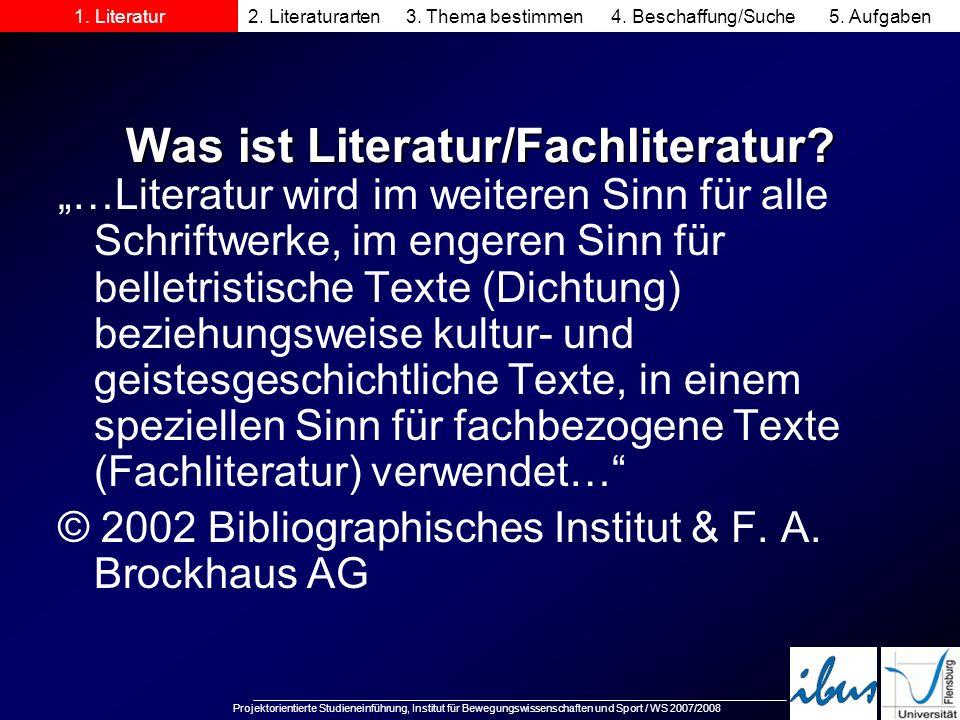 Was ist Literatur/Fachliteratur