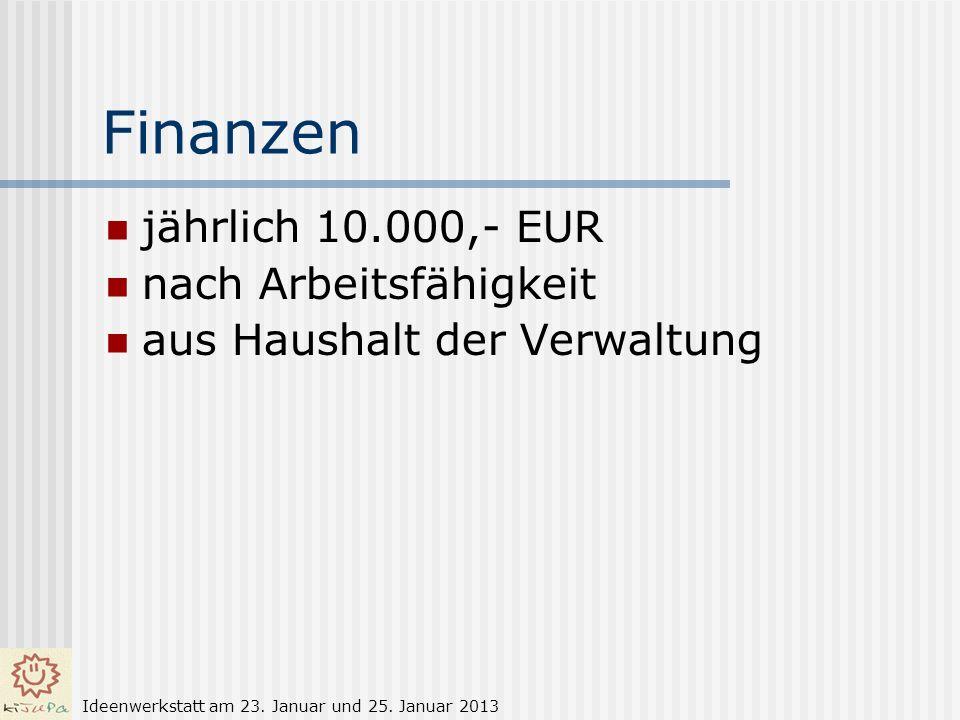 Finanzen jährlich 10.000,- EUR nach Arbeitsfähigkeit