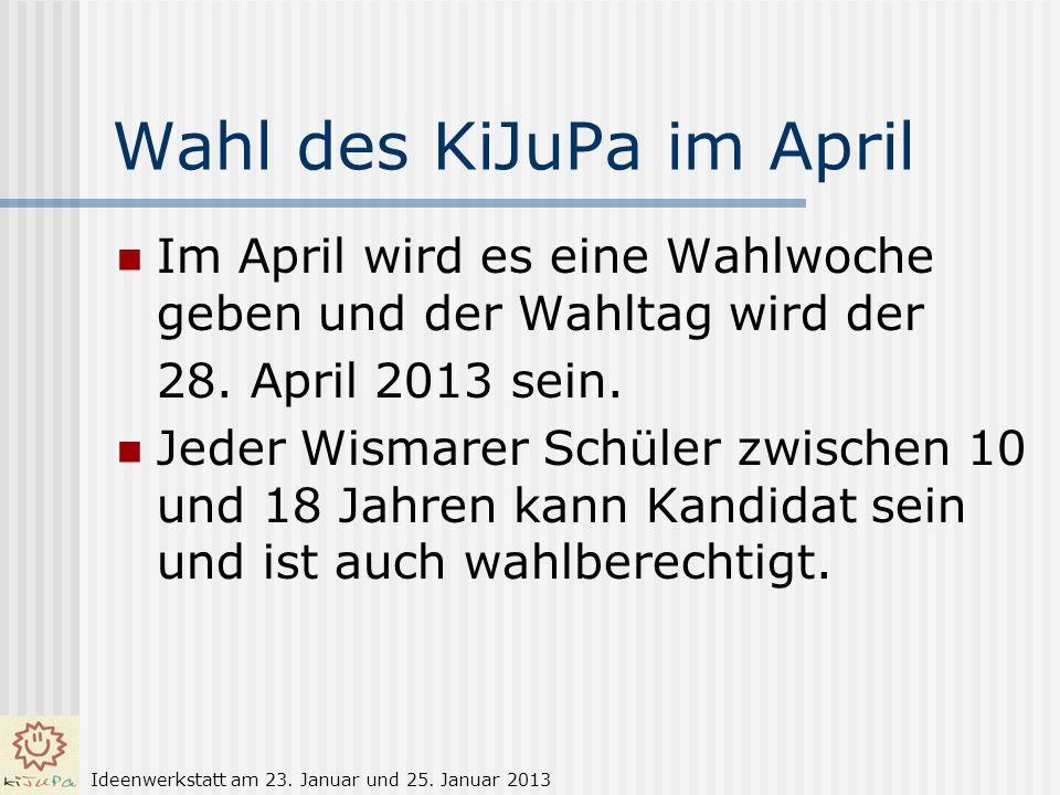 Wahl des KiJuPa im April
