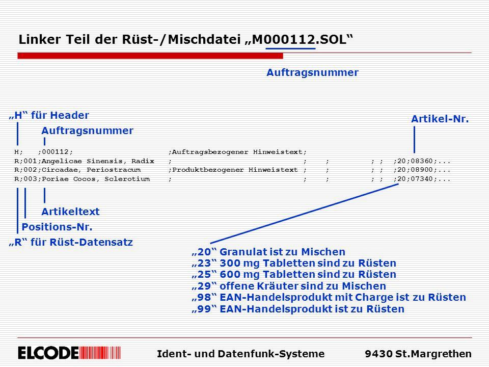 """Linker Teil der Rüst-/Mischdatei """"M000112.SOL"""