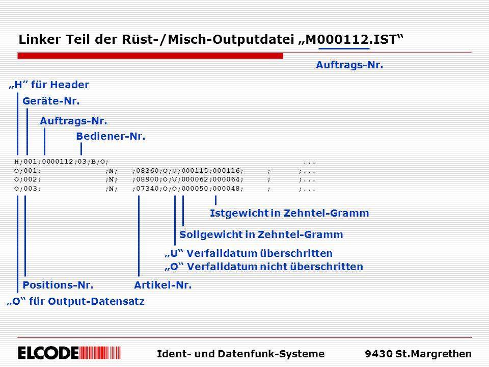 """Linker Teil der Rüst-/Misch-Outputdatei """"M000112.IST"""