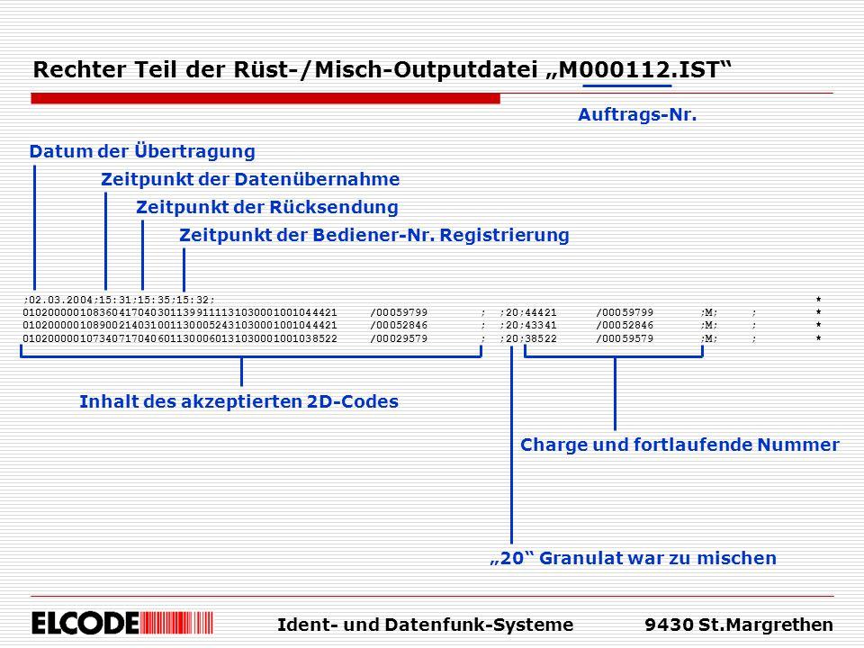 """Rechter Teil der Rüst-/Misch-Outputdatei """"M000112.IST"""