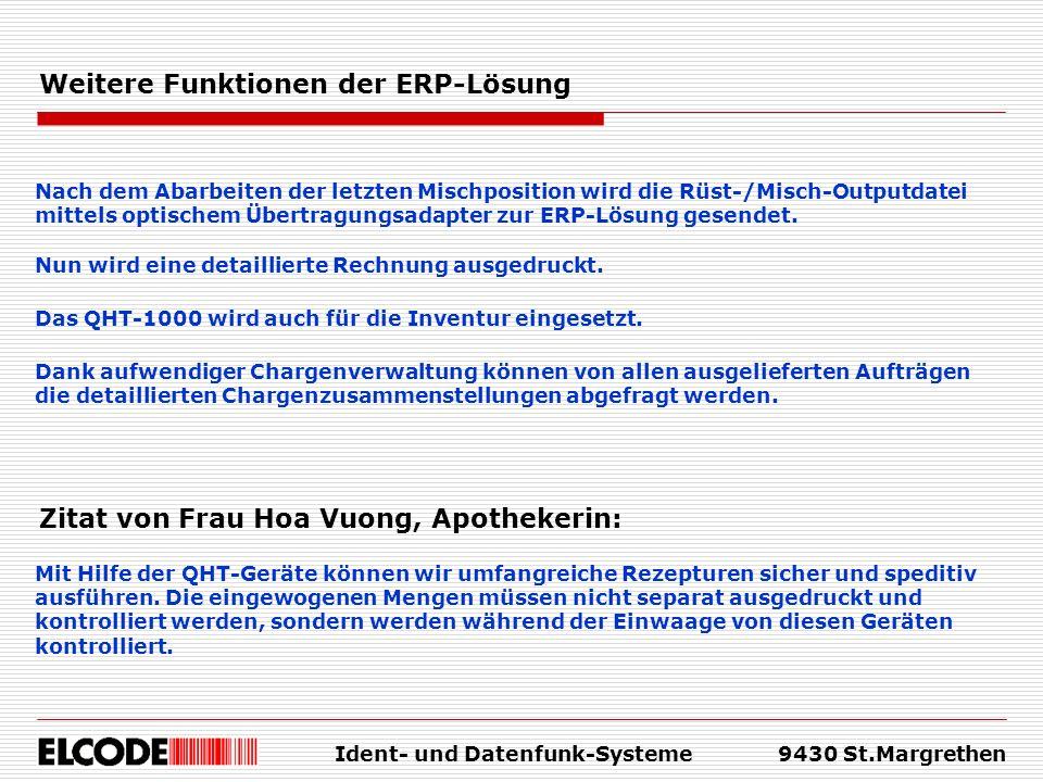 Weitere Funktionen der ERP-Lösung