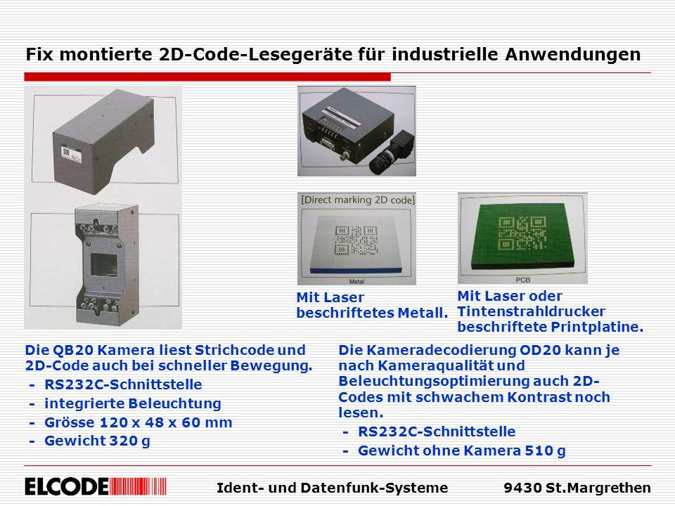 Fix montierte 2D-Code-Lesegeräte für industrielle Anwendungen