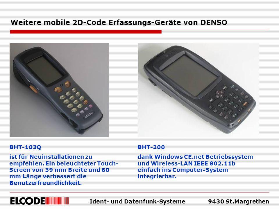 Weitere mobile 2D-Code Erfassungs-Geräte von DENSO