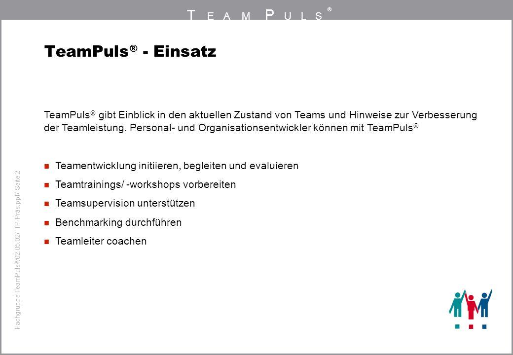 TeamPuls - Einsatz