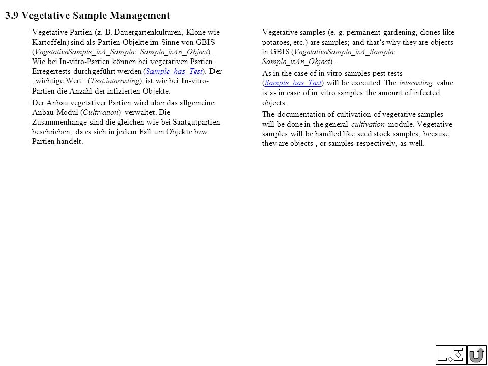 3.9 Vegetative Sample Management