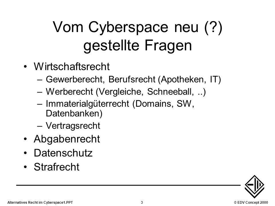 Vom Cyberspace neu ( ) gestellte Fragen