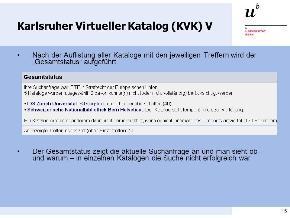 Karlsruher Virtueller Katalog (KVK) V