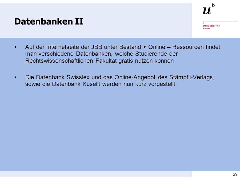 Datenbanken II