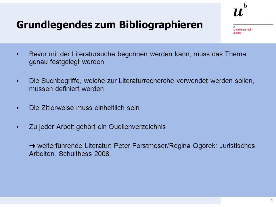 Grundlegendes zum Bibliographieren
