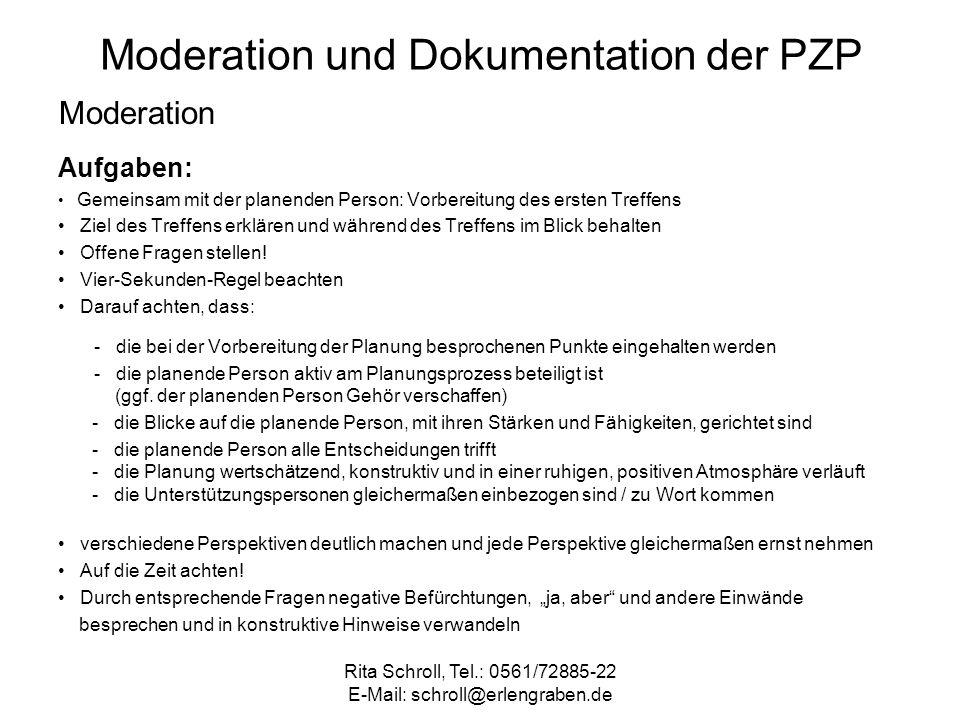 Moderation und Dokumentation der PZP