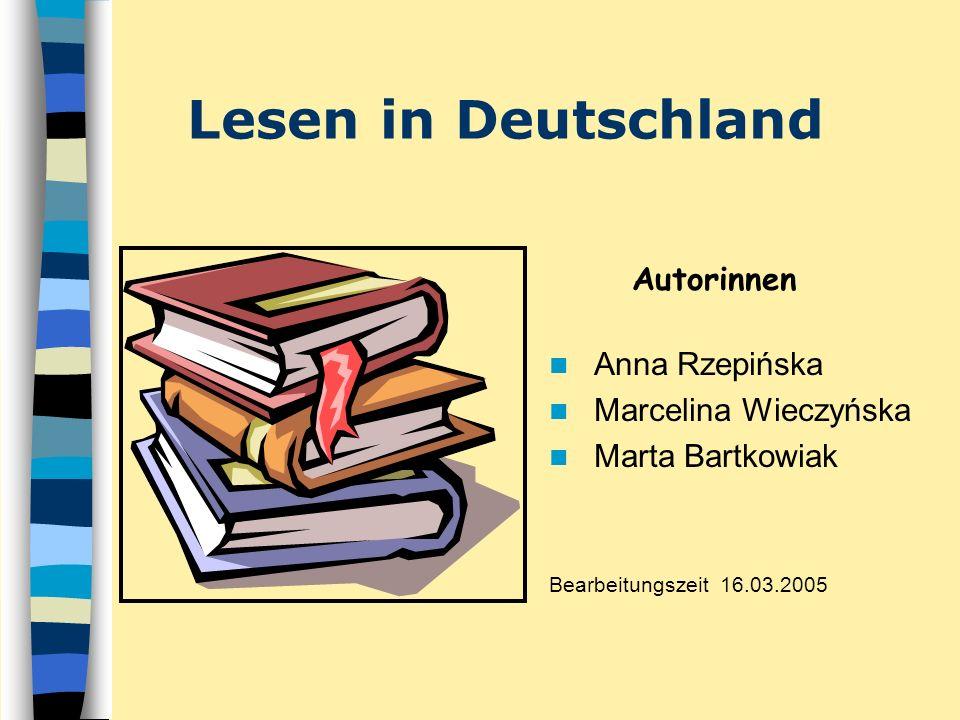 Lesen in Deutschland Autorinnen Anna Rzepińska Marcelina Wieczyńska