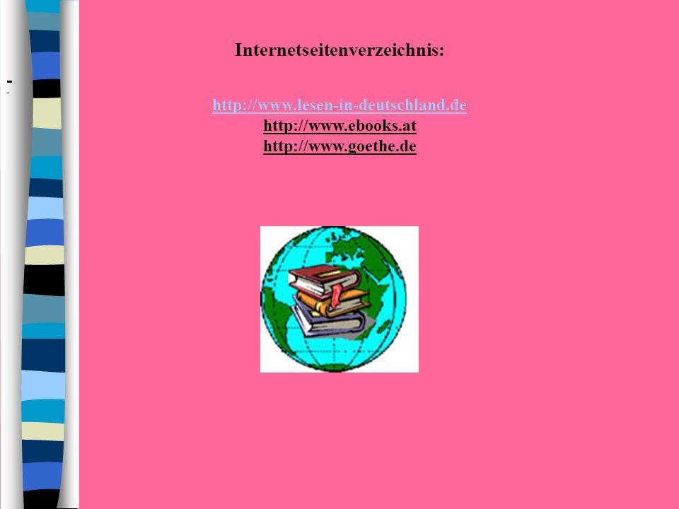 Internetseitenverzeichnis: