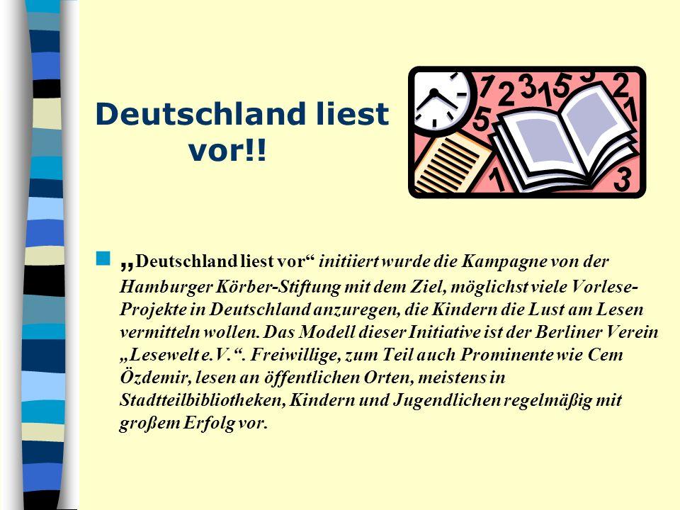 Deutschland liest vor!!