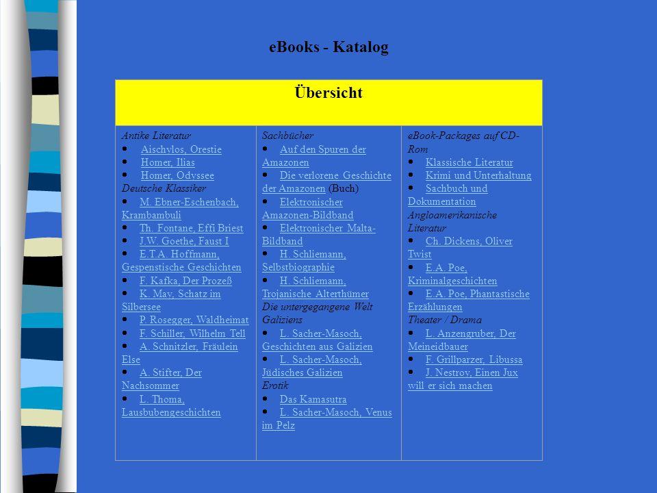eBooks - Katalog Übersicht Antike Literatur · Aischylos, Orestie