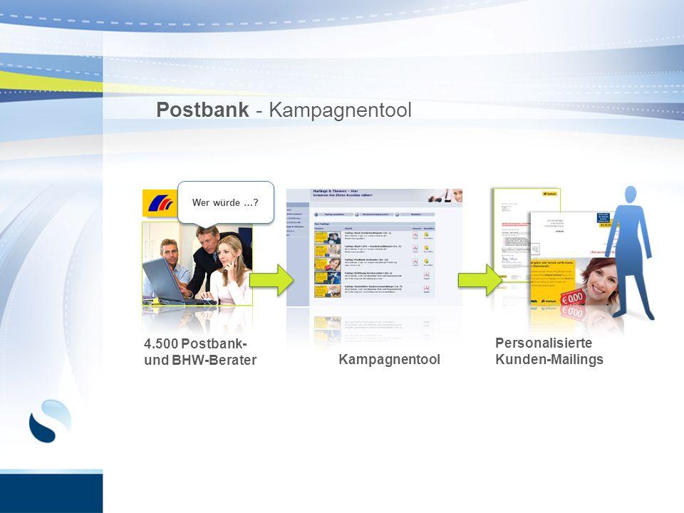 Postbank - Kampagnentool