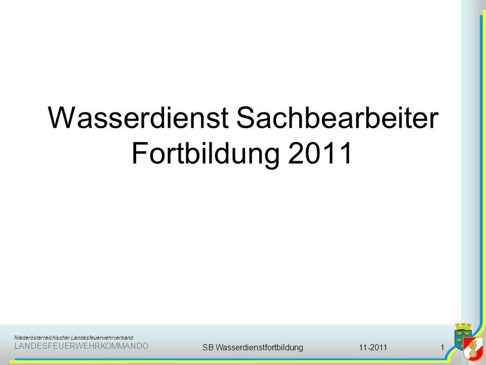 Wasserdienst Sachbearbeiter Fortbildung 2011