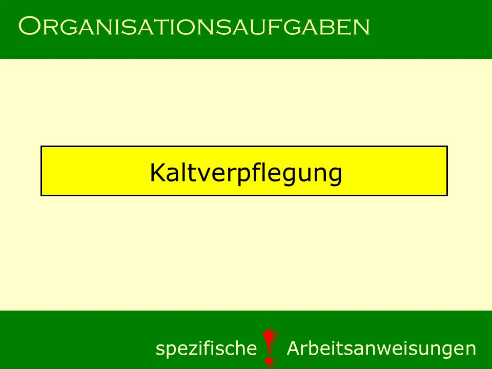 Organisationsaufgaben