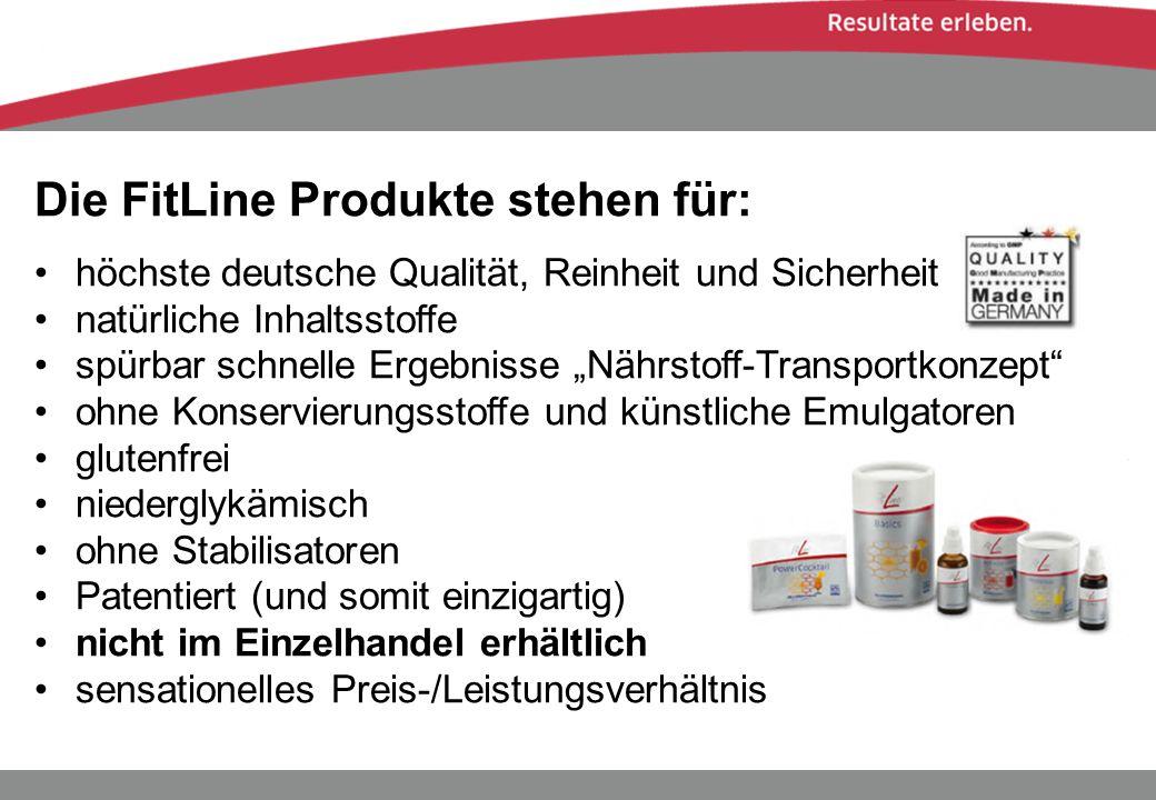 Die FitLine Produkte stehen für: