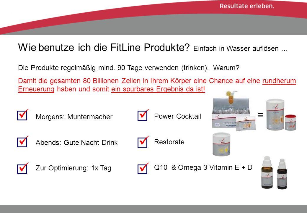 Wie benutze ich die FitLine Produkte Einfach in Wasser auflösen …