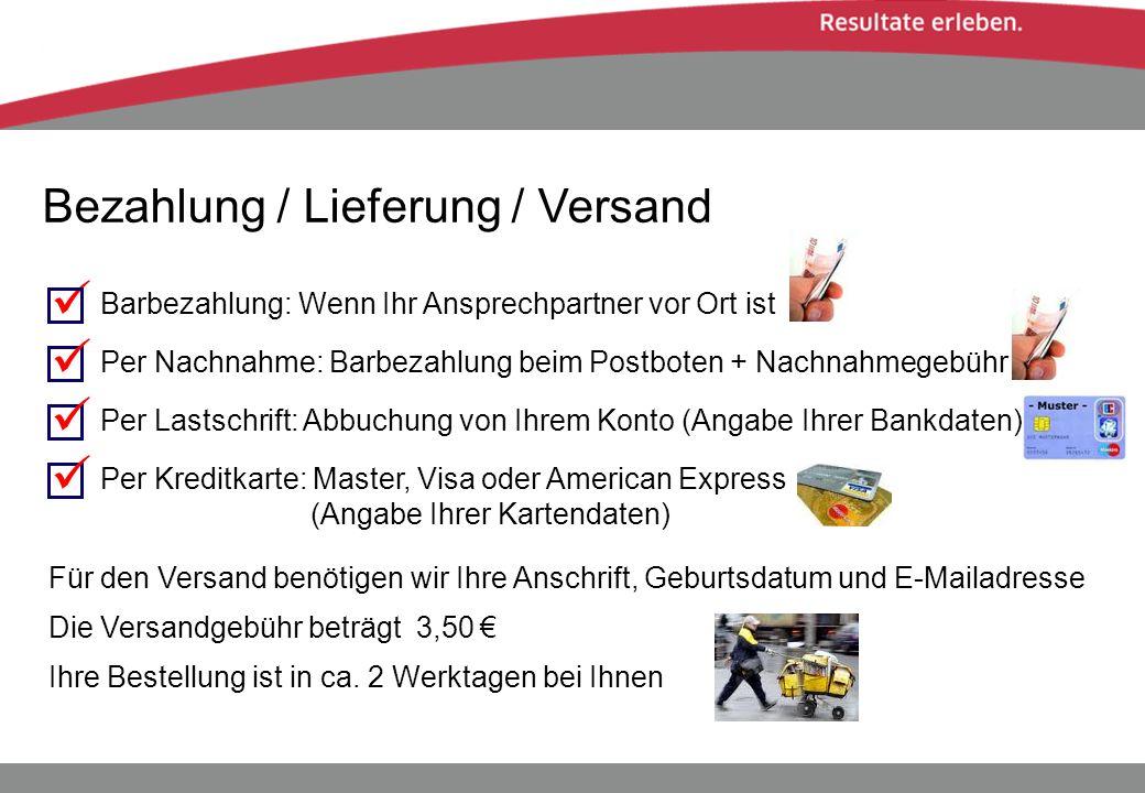     Bezahlung / Lieferung / Versand