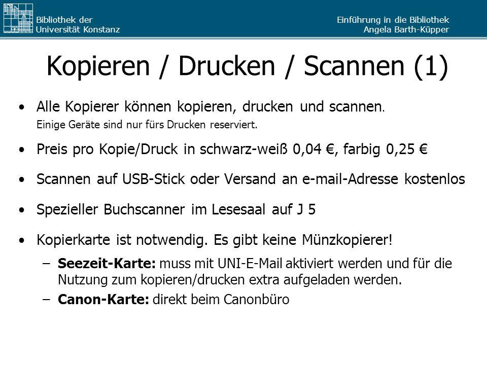 Kopieren / Drucken / Scannen (1)