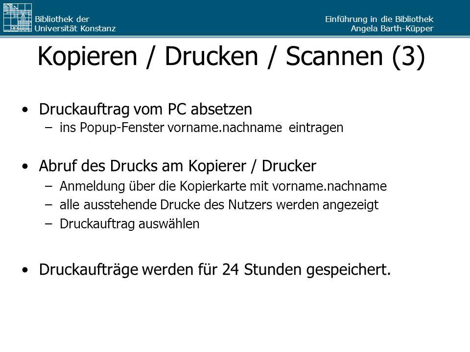 Kopieren / Drucken / Scannen (3)