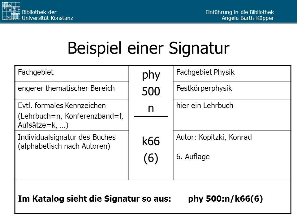 Beispiel einer Signatur