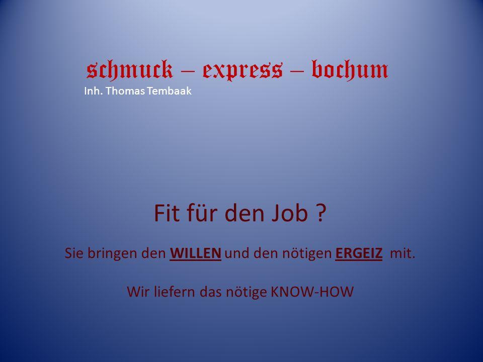 schmuck – express – bochum