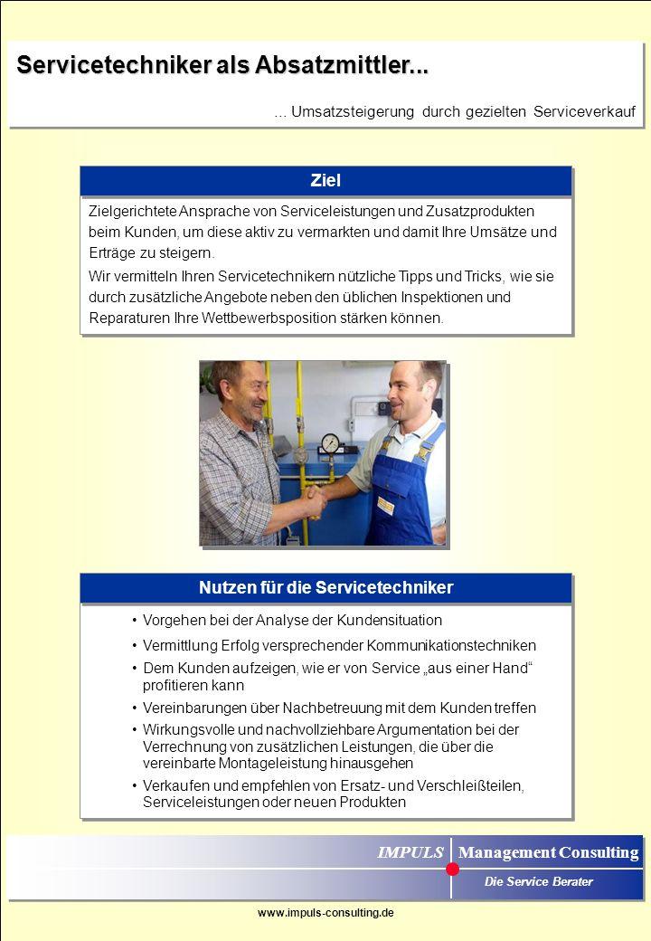 Nutzen für die Servicetechniker