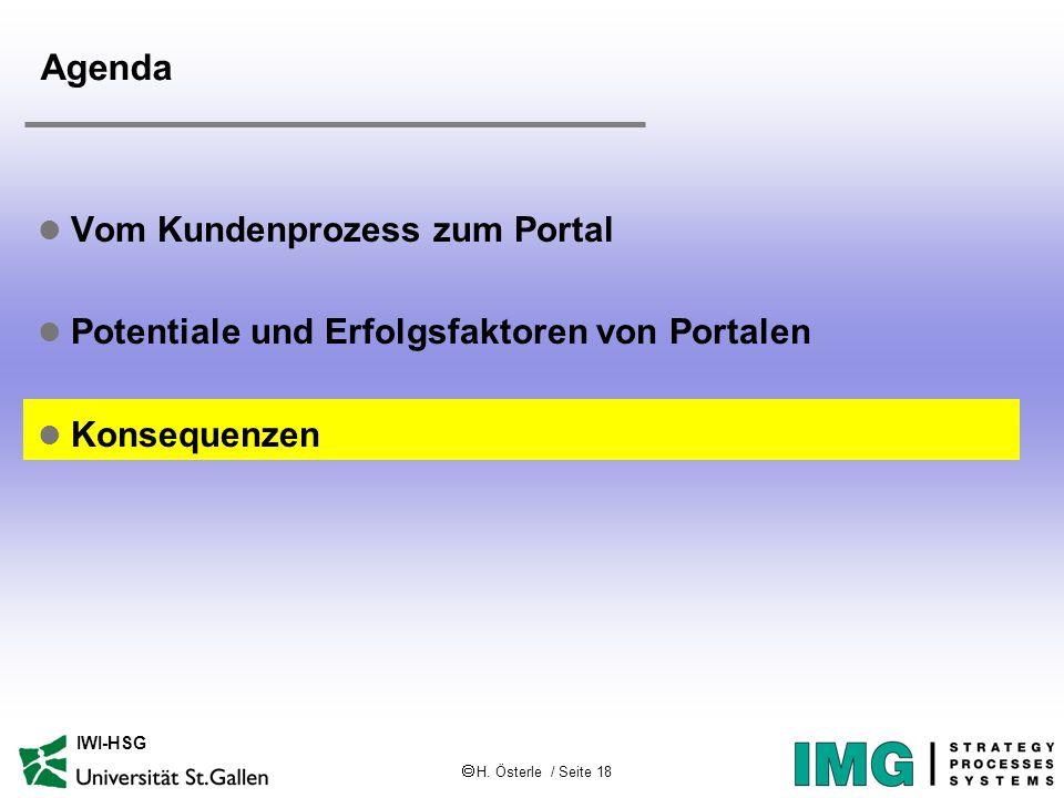 Agenda Vom Kundenprozess zum Portal