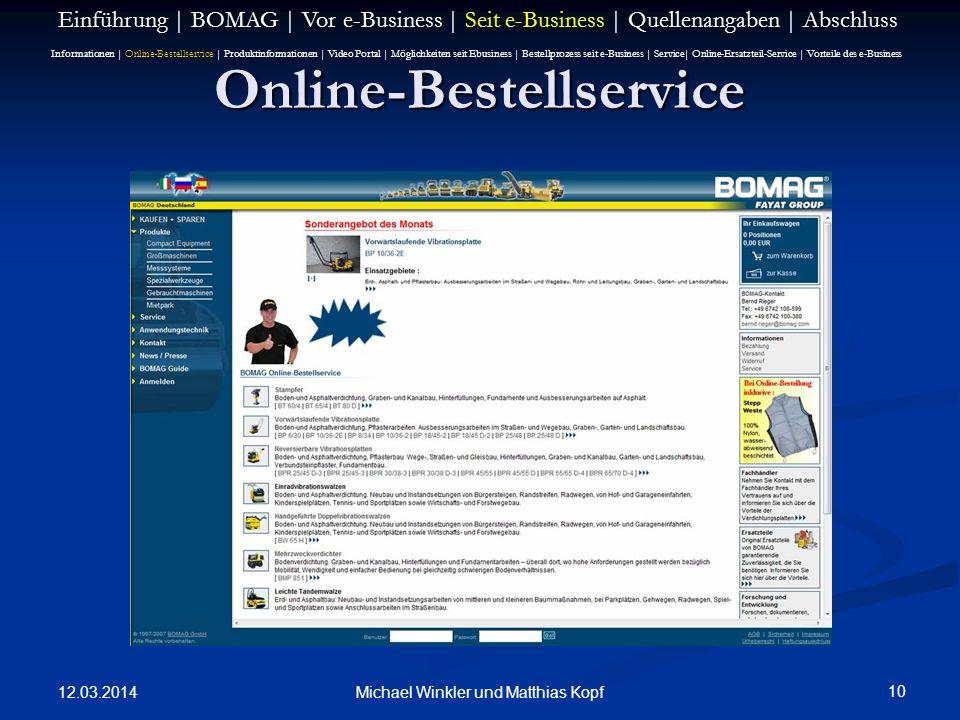 Online-Bestellservice