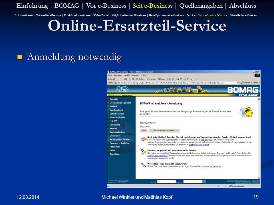 Online-Ersatzteil-Service