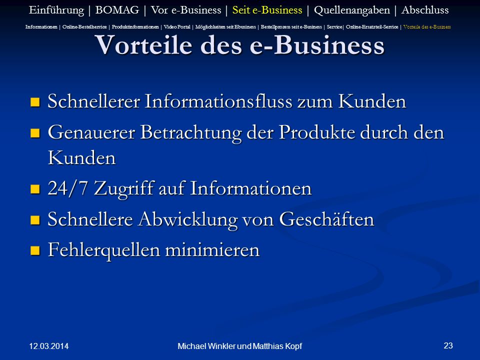 Vorteile des e-Business