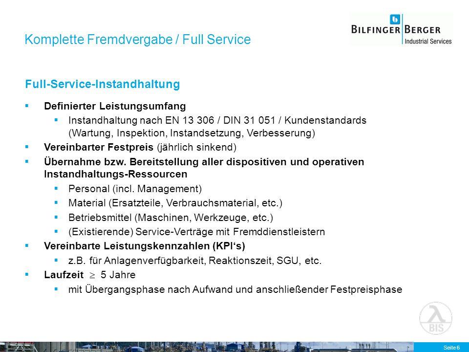 Komplette Fremdvergabe / Full Service