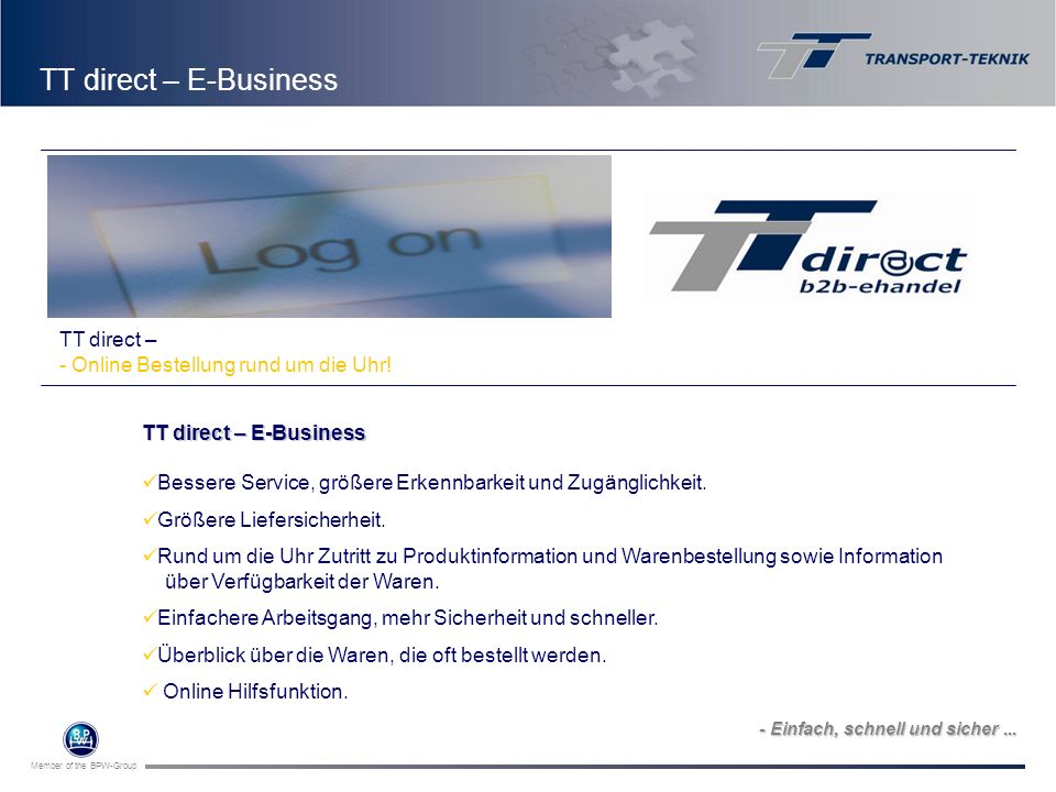 TT direct – E-Business Logo indsættes TT direct –