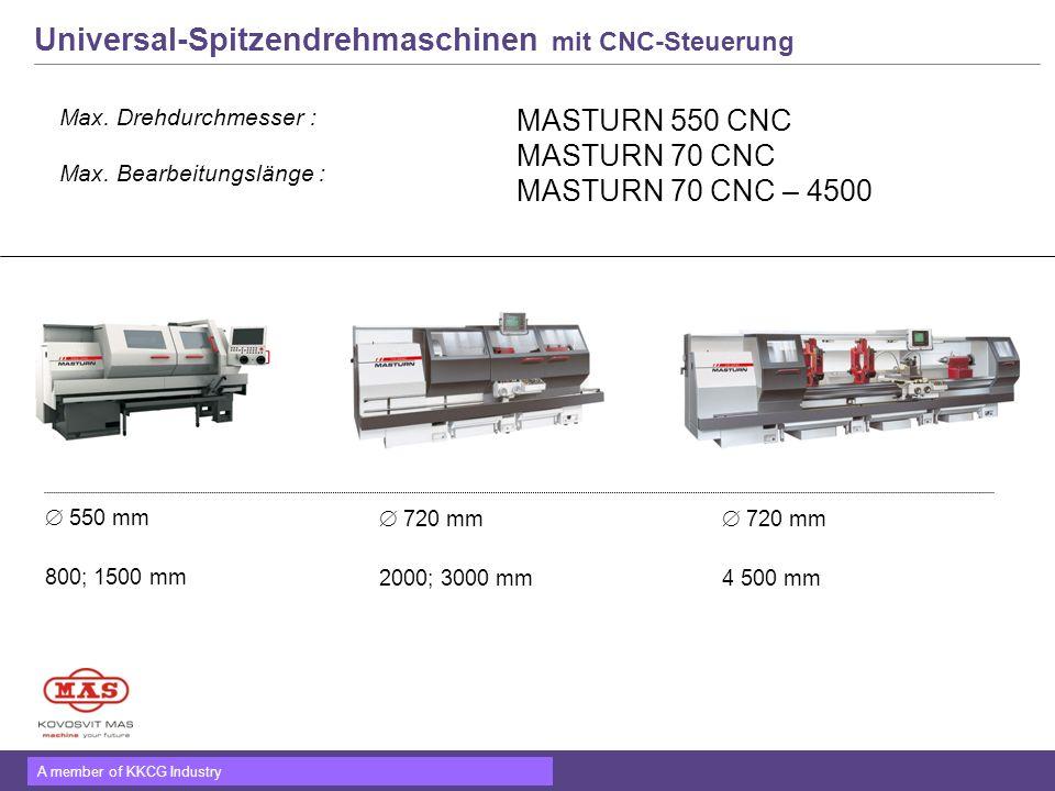 Universal-Spitzendrehmaschinen mit CNC-Steuerung
