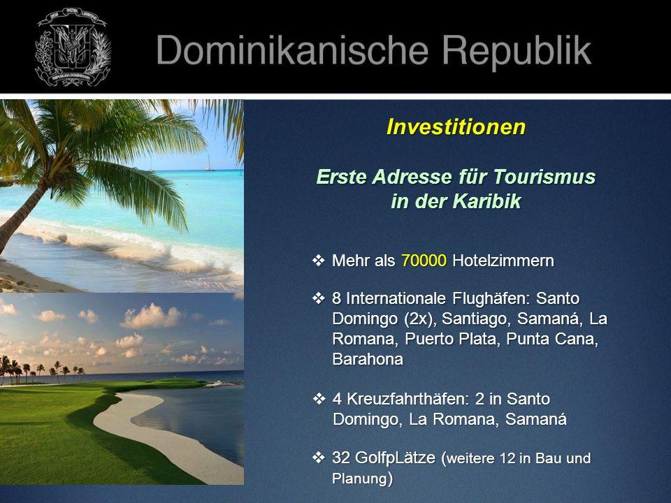 Erste Adresse für Tourismus Primer destino turístico en el Caribe